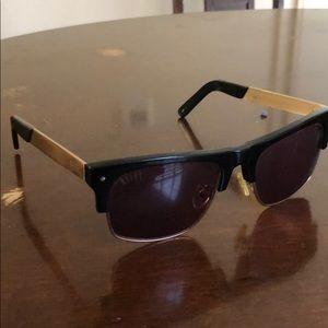 4ffa74de39 9five black and gold Watson 2 sunglasses